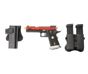 WE 5.1 Hi Capa red speed slide gunfighter package