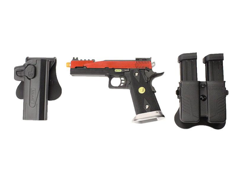 WE Tech WE 5.1 Hi Capa red speed slide gunfighter package