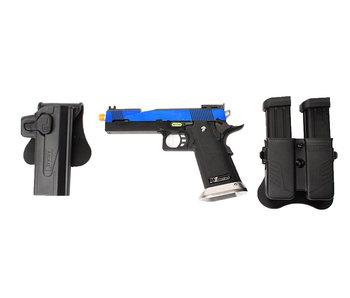 WE 5.1 Hi Capa blue speed slide gunfighter package