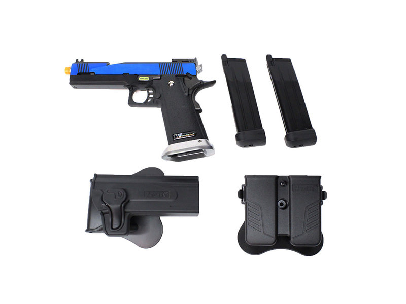 WE Tech WE 5.1 Hi Capa blue speed slide gunfighter package