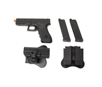 Elite Force Glock 17 Gen4 gas blowback gunfighter package