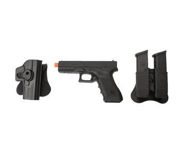 Elite Force Glock 17 Gen3 gas blowback gunfighter package