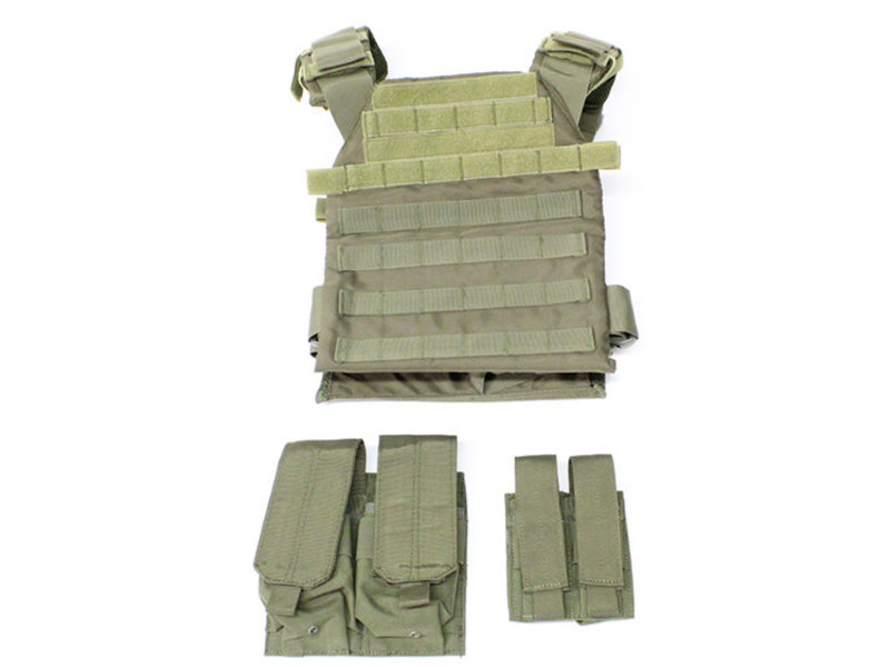 NcStar Protector plate carrier set, OD green