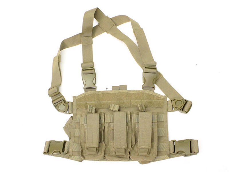 Condor SPEARHEAD chest rig for M4 magazines, coyote tan
