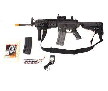 ASG M4 SIR electric rifle Warfighter package, black