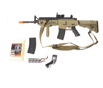 ASG M4 SIR electric rifle Warfighter package, tan