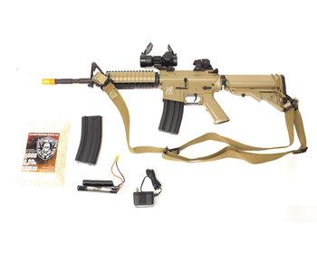 SRC M4 SOPMOD warfighter package, tan