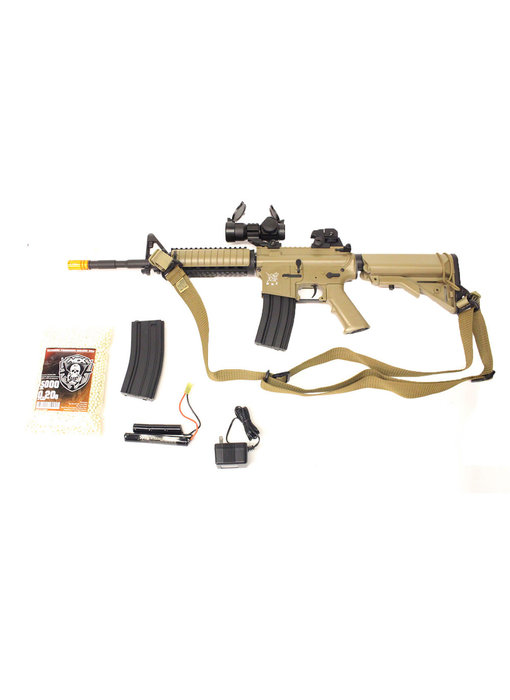 SRC M4 SOPMOD warfighter package, tan