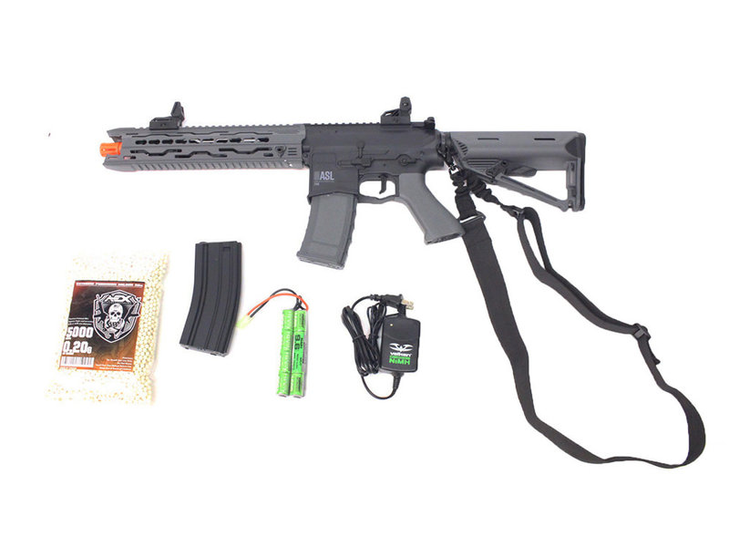 Airsoft Extreme Valken ASL TRG electric rifle Warfighter package, black/gray
