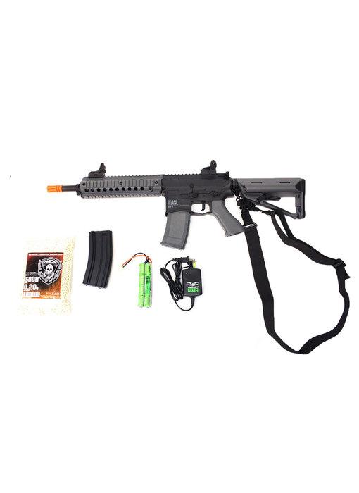 Valken ASL MOD-M electric rifle Warfighter package, black/gray