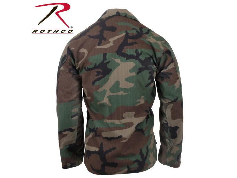 Rothco Rothco Ripstop BDU Shirt , Woodland (100% Cotton Rip-Stop)