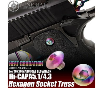 Nine Ball Hi Capa Grip Screws Heat Gradation