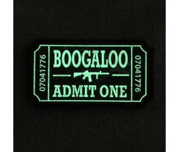 Tactical Outfitters Boogaloo Ticket PVC Morale Patch, Glow