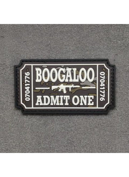 Tactical Outfitters Boogaloo Ticket PVC Morale Patch, Non glow