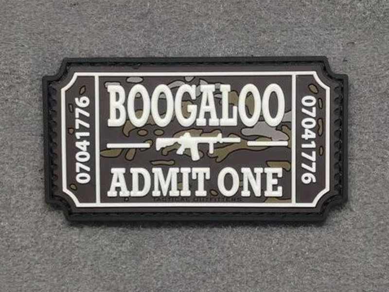 Tactical Outfitters Tactical Outfitters Boogaloo Ticket PVC Morale Patch, Non glow