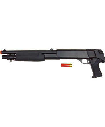Double Eagle Double Eagle M56B Tri Burst No Stock Spring Shotgun Black