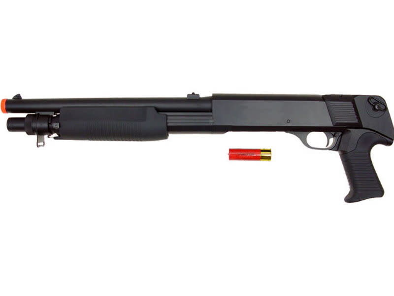 Double Eagle Double Eagle M56B Tri Burst No Stock Spring Shotgun Black