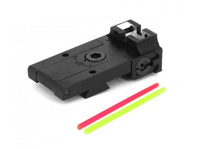 Airsoft Masterpiece Airsoft Masterpiece Aluminum Rear Sight with Fiber for Hi Capa Infinity