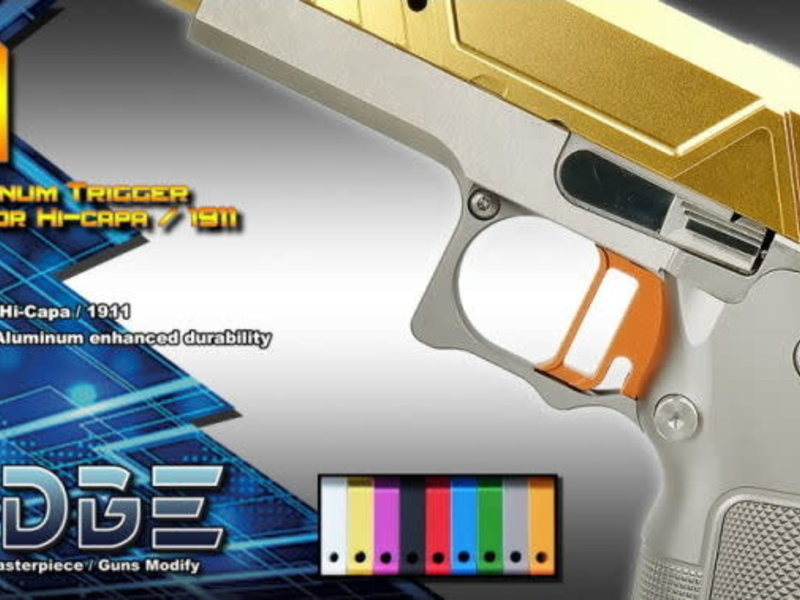 "Airsoft Masterpiece Airsoft Masterpiece EDGE Aluminum ""T1"" Trigger for Hi CAPA / 1911"