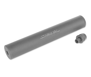 ASG HUSH XL 14mm CCW silencer with sniper rifle thread adapter