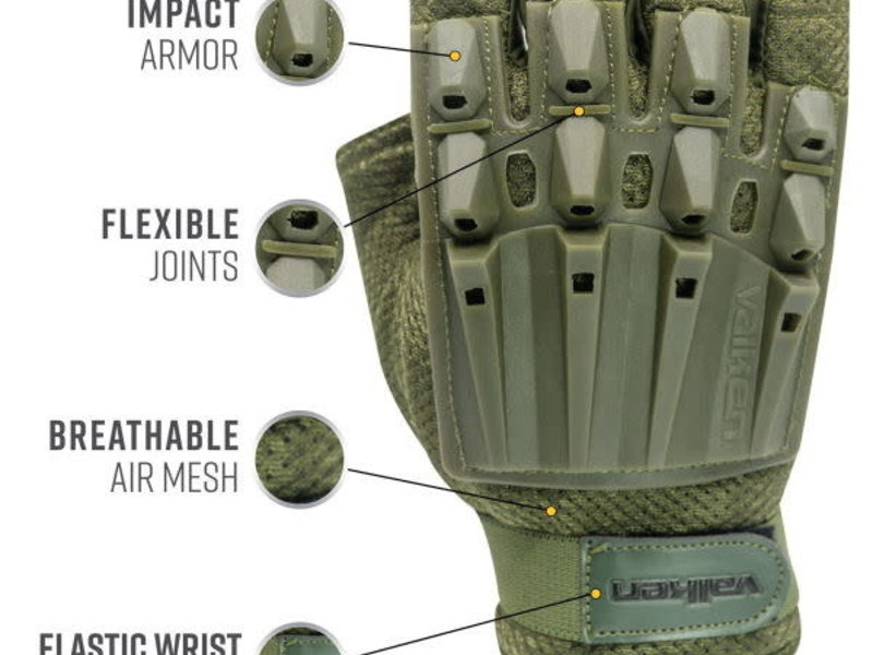 Valken Valken Alpha Half Finger Gloves