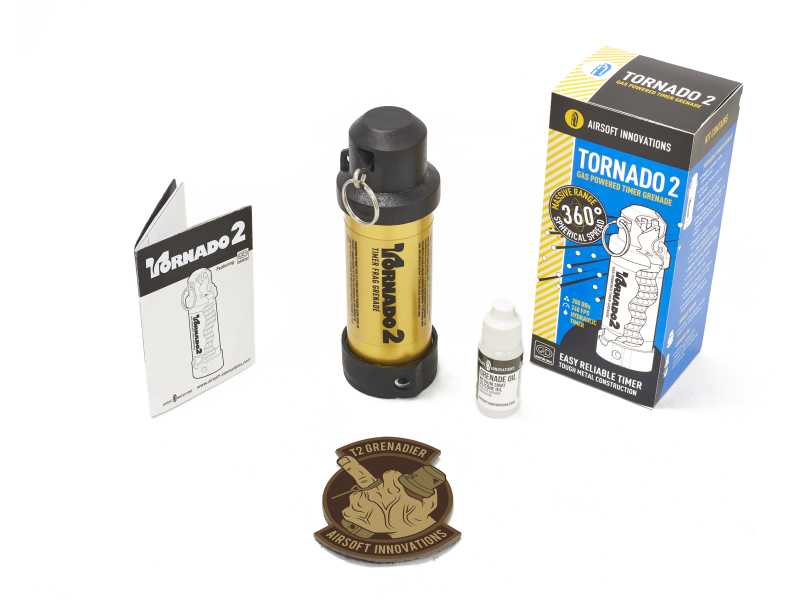 Airsoft Innovations Airsoft Innovations Tornado 2 Grenade GOLD