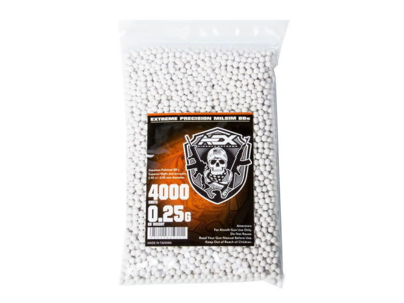 Airsoft Extreme AEX 0.25g BBs 4000 Round Count Bag
