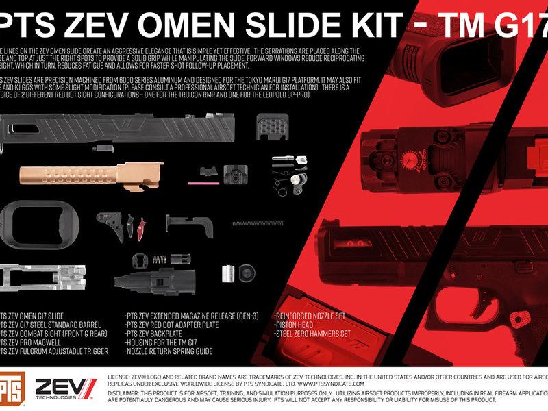 PTS PTS ZEV Omen Slide Kit, TM G17, RMR
