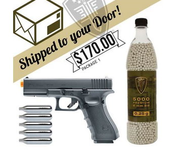 DROP SHIP SPECIAL - G17 Blowback CO2 Pistol Package