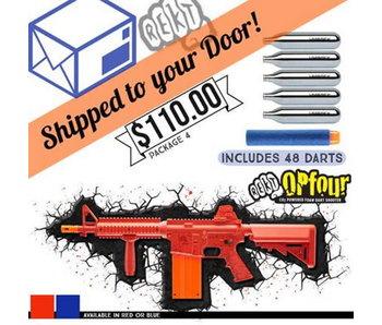 DROP SHIP SPECIAL - REKT OPFOUR CO2 Powered Foam Dart Rifle