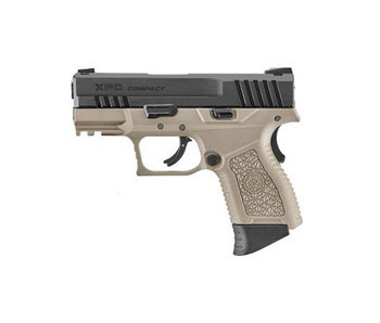 ICS XPD Gas Blowback Pistol, Black slide/tan frame