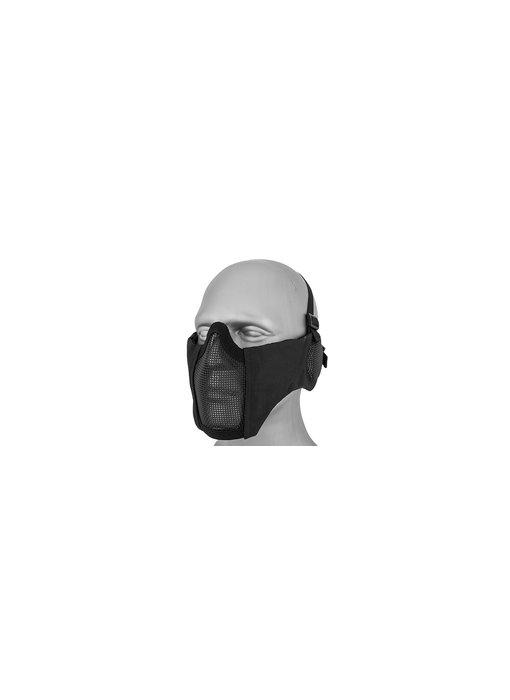 WoSport Steel Mesh Nylon Mask w/ Ear Black