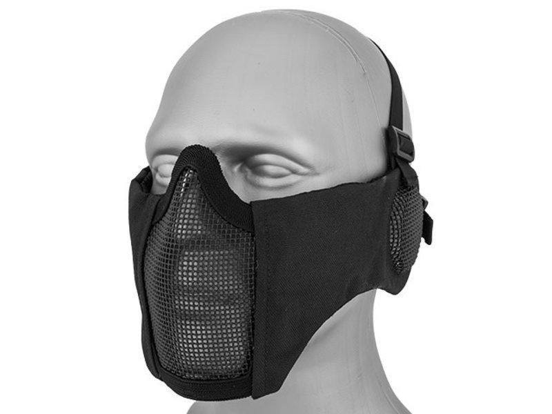 WoSport WoSport Steel Mesh Nylon Mask w/ Ear Black