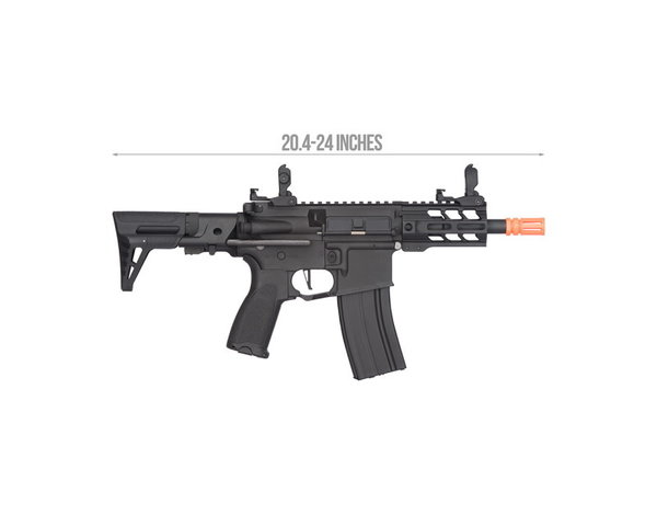 """Lancer Tactical Lancer Tactical GEN2 M4 Enforcer Hybrid 4"""" Battle Hawk PDW Low FPS Nylon Polymer Rifle Black"""