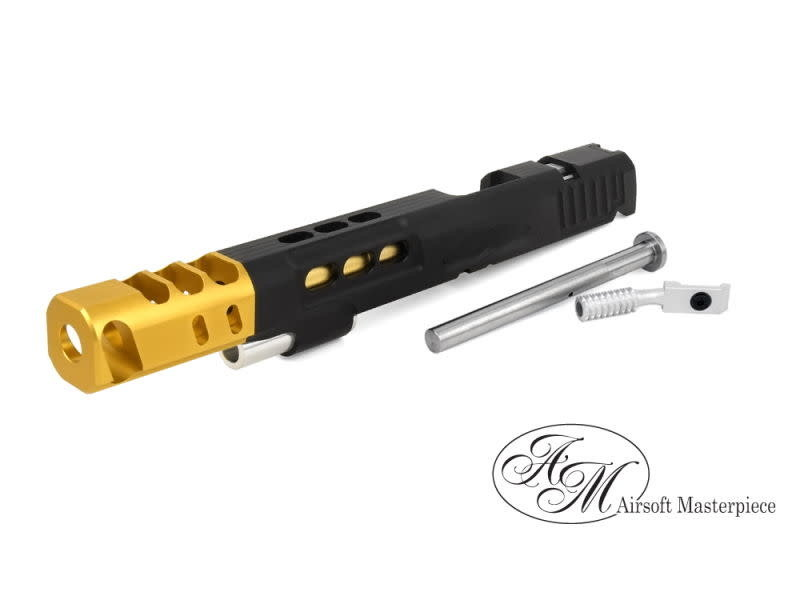 Airsoft Masterpiece Airsoft Masterpiece Custom S Style DVC Open Slide for Hi Capa 5.1 Black / Gold Comp