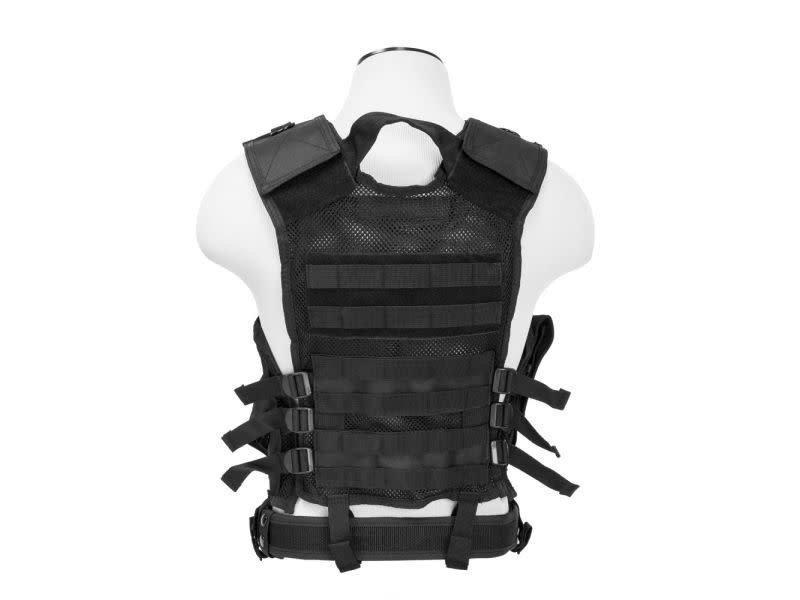 NcStar NcStar Adult Crossdraw Tactical Vest, Black, MED - 2XL