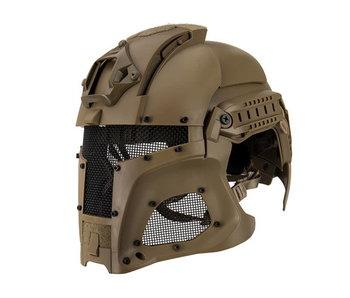 UKARMS Interstellar Battle Trooper Full Face Airsoft Helmet Tan