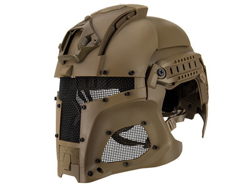 UK Arms UKARMS Interstellar Battle Trooper Full Face Airsoft Helmet Tan