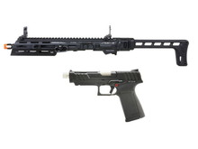 G&G G&G SMC 9 Carbine Kit with GTP 9 GBB Pistol and 50 round Magazine Black