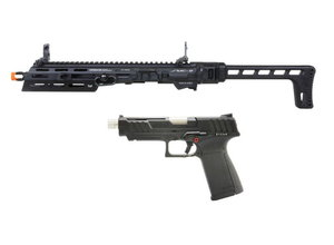 G&G G&G SMC 9 Carbine Kit with GTP 9 GBB Pistol and 50 round Magazine Black