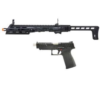 G&G SMC 9 Carbine Kit with GTP 9 GBB Pistol and 50 round Magazine Black