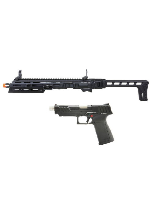 G&G SMC 9 Carbine Kit with GTP 9 GBB Pistol and 50 round Magazine Black