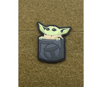Tactical Outfitters Pocket Baby Yoda PVC Morale Patch Grey