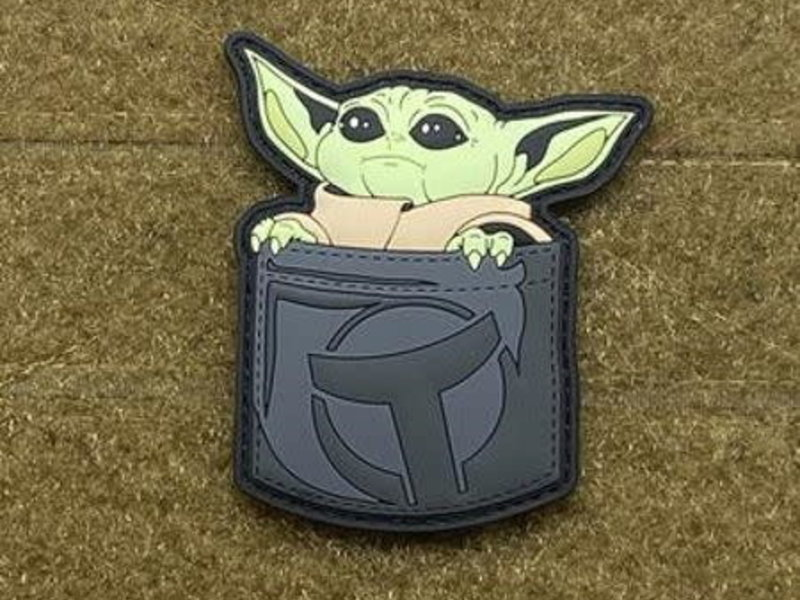 Tactical Outfitters Tactical Outfitters Pocket Baby Yoda PVC Morale Patch Grey