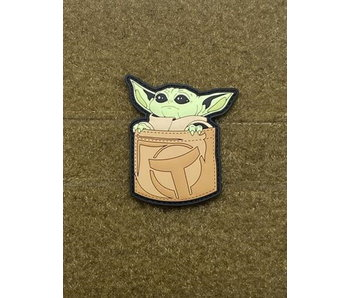 Tactical Outfitters Pocket Baby Yoda PVC Morale Patch Tan