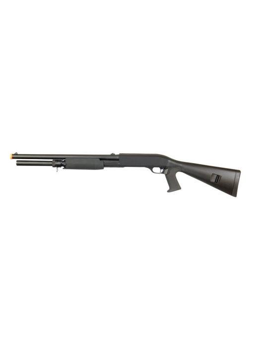 Double Eagle M56AL Tri Burst Long Barrel Full Stock Spring Shotgun