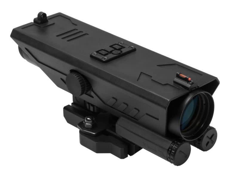 NcStar NCStar DELTA 4X30 Scope with Navigation Lights, P4 Sniper Reticle, Black