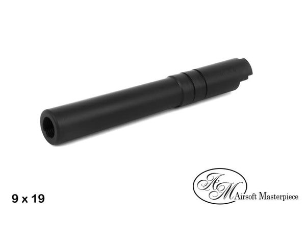 Airsoft Masterpiece Airsoft Masterpiece .40 S&W STEEL Threaded Fix Outer Barrel for 5.1 Hi Capa, Black