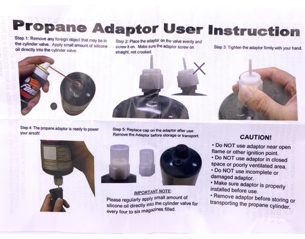 Prima USA P-Force New Generation Propane Adapter