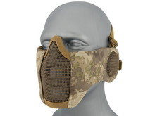 WoSport WoSport Steel Mesh Nylon Padded Lower Face Mask with Ear Protection
